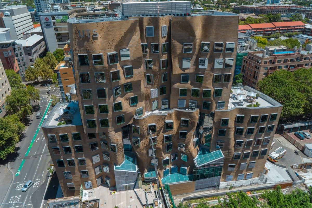 Paper bag building - Frank Gehry Architects Dr Chau Chak Wing Building Sydney 2 5