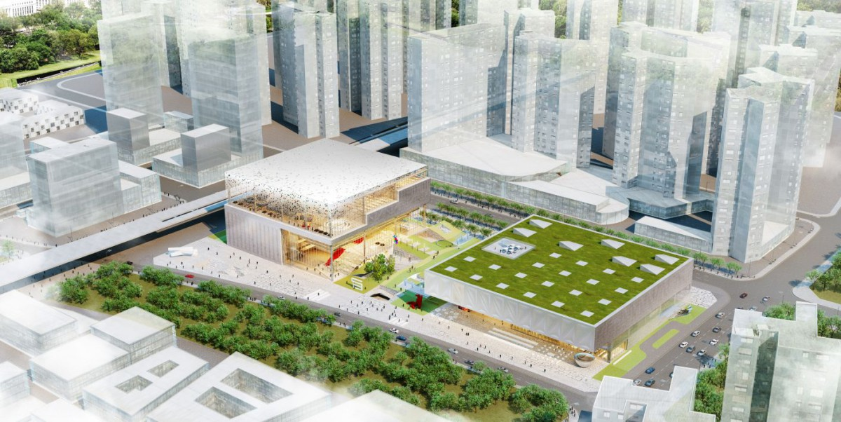 OMA . Art Museum and Library complex . Shenzhen  (1)