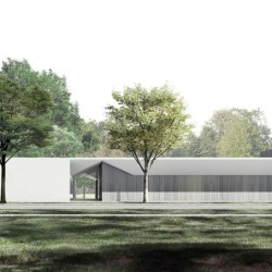 Menil Drawing Institute, south facade