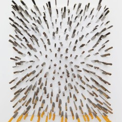 FARHAD MOSHIRI . Knife painting with orange horizon .  2013  (1)