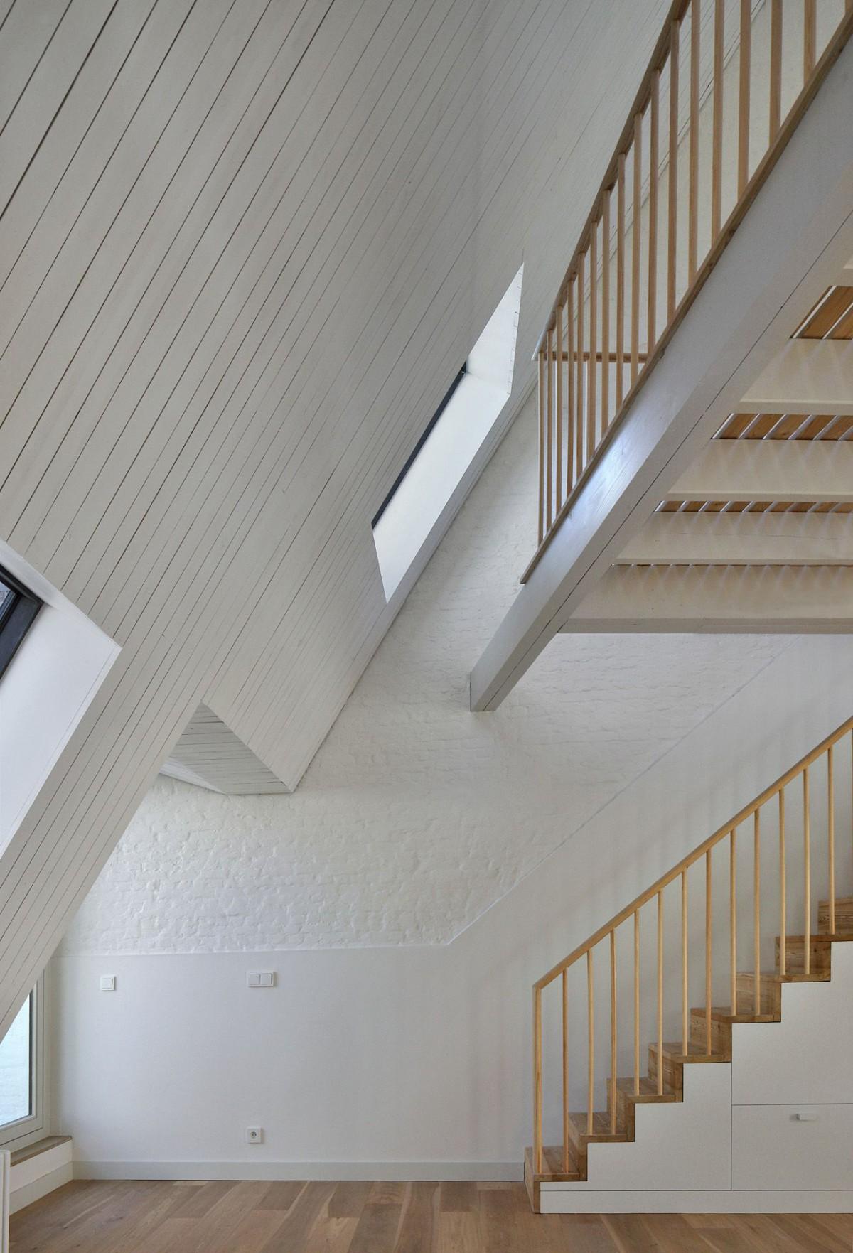 Bovenbouw Architectuur . Refurbishment of 3 historical buildings . Antwerp (23)