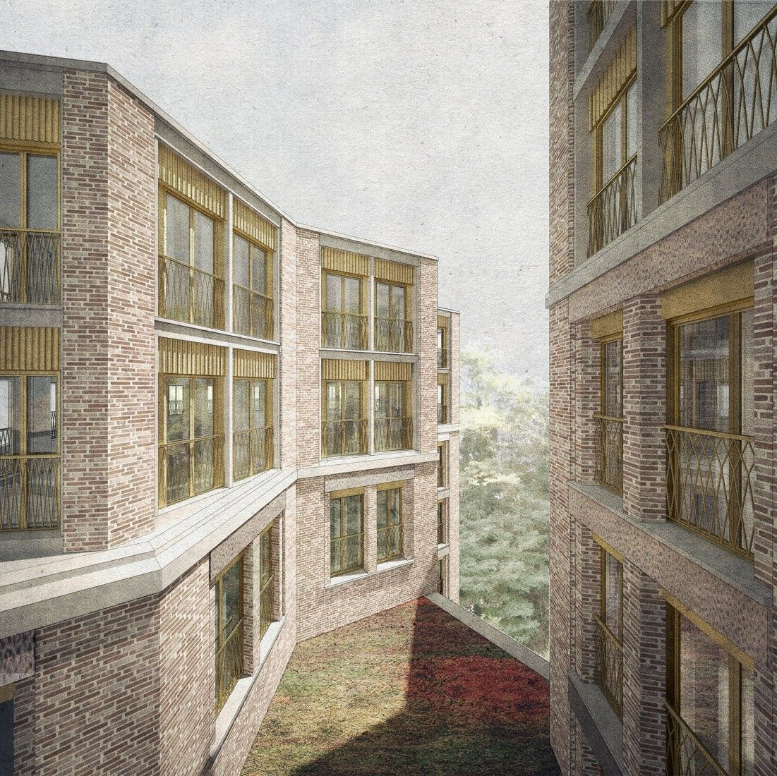 Sergison Bates . Hampstead Housing for older residents . London (1)