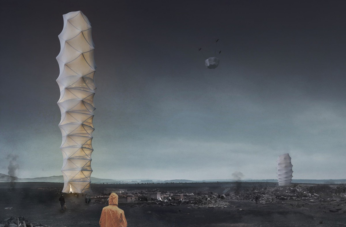 Granosik . Kulisa . Pańczyk. Skyshelter.zip Foldable Skyscraper for Disaster Zones (1)