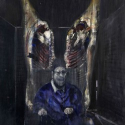 Francis Bacon . Figure with meat . 1954