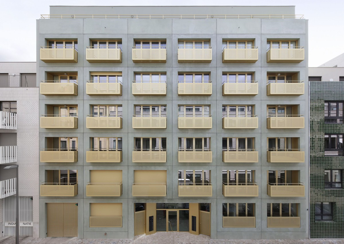 Meta Architectuurbureau . Cadix Housing Complex . Antwerp (1)