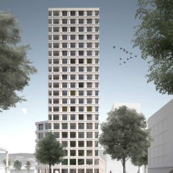 Lacroix Chessex . Tour de bureaux et de logements .  Chêne-Bourg (2)