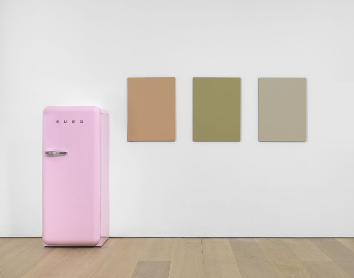 01 Sherrie Levine . Pink SMEG Refrigerator and Renoir Nudes . 2016