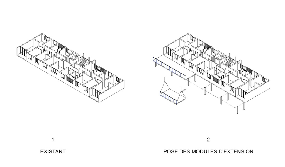 Lacaton&Vassal . Transformation of 530 dwellings, block G, H, I . Bordeaux (7)