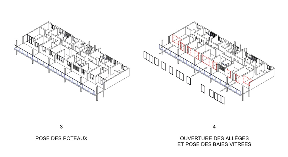 Lacaton&Vassal . Transformation of 530 dwellings, block G, H, I . Bordeaux (8)