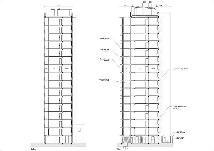 lacaton&vassal .transformation of 530 dwellings, block g, h, i . bordeaux  afasia (7)