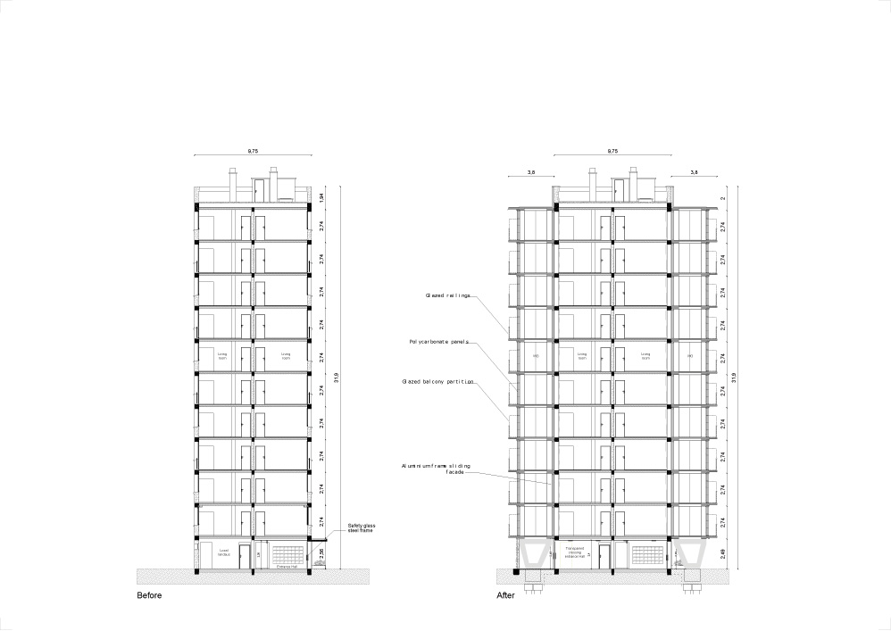 lacaton&vassal .transformation of 530 dwellings, block g, h, i . bordeaux  afasia (8)