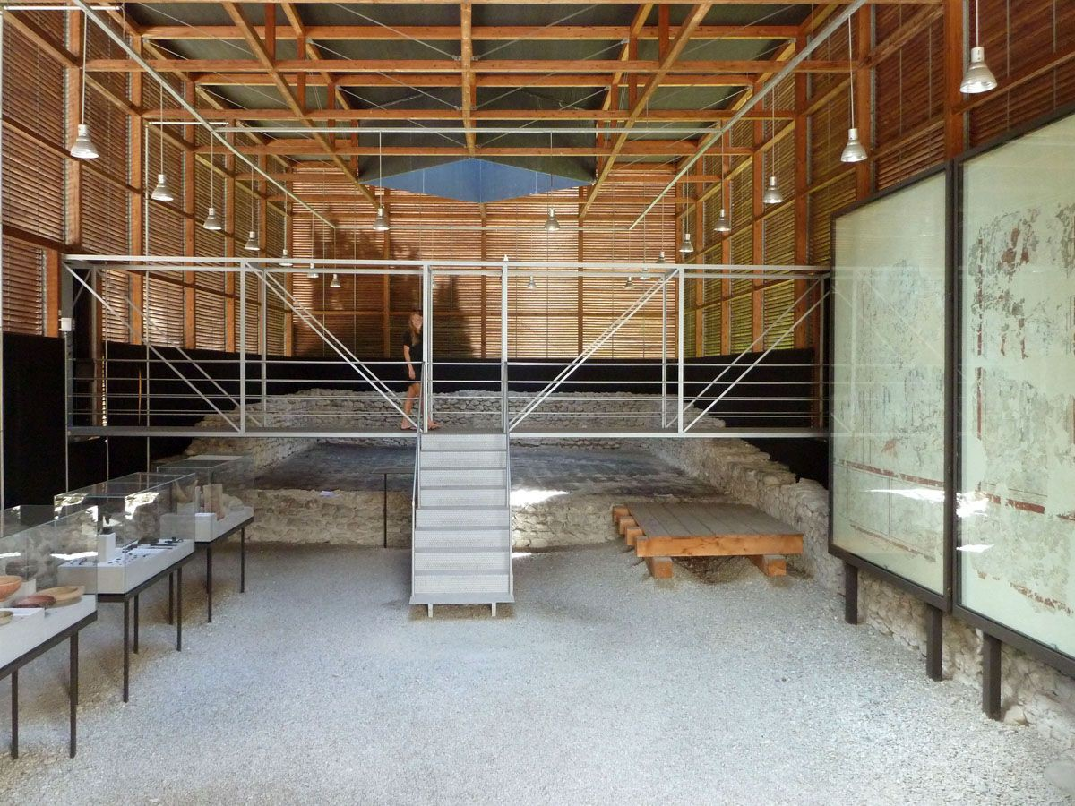 Peter Zumthor Shelters For Roman Archaeological Site border=