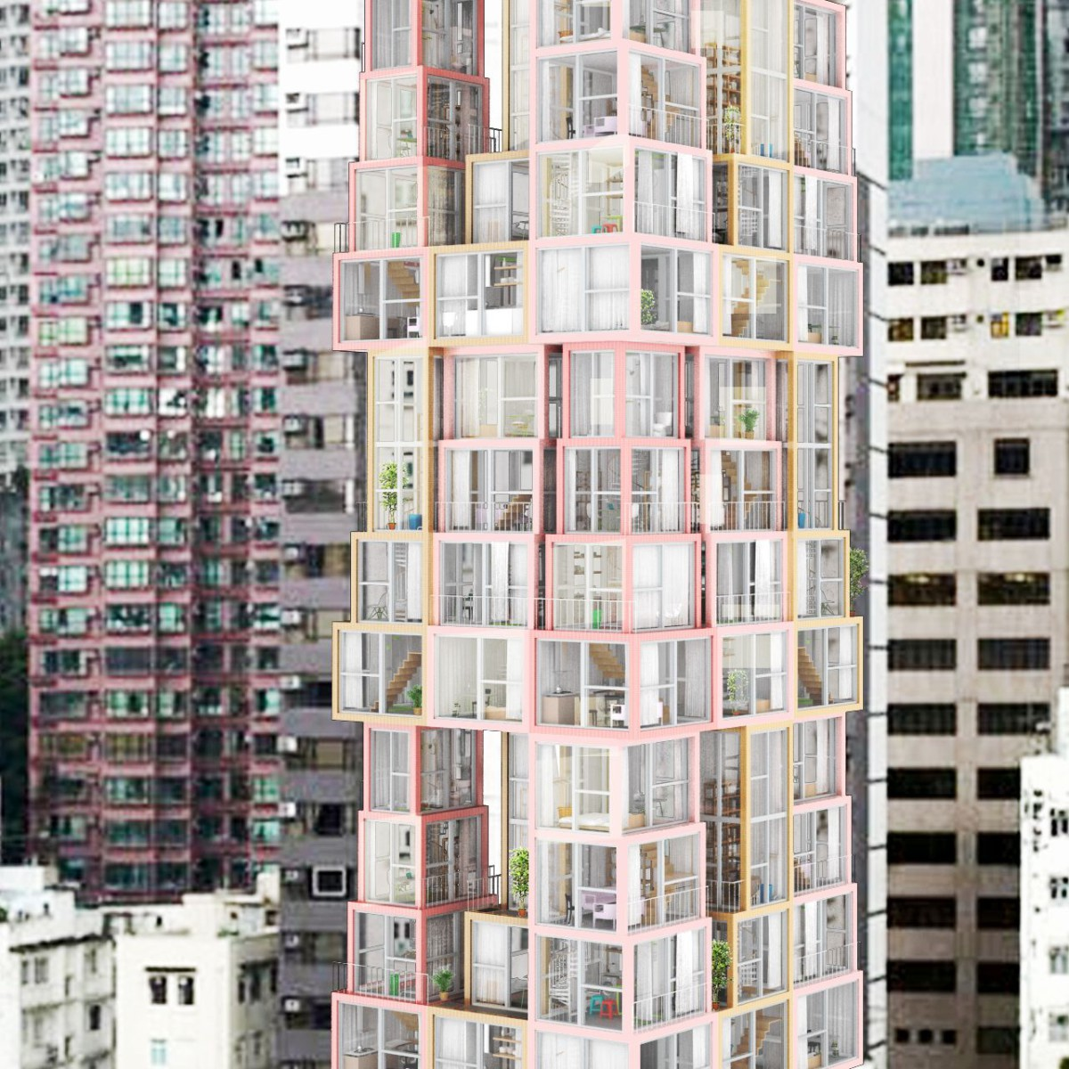 Kwong Von Glinow  . Lamyuktseung . Towers within a Tower . Hong Kong  (2)