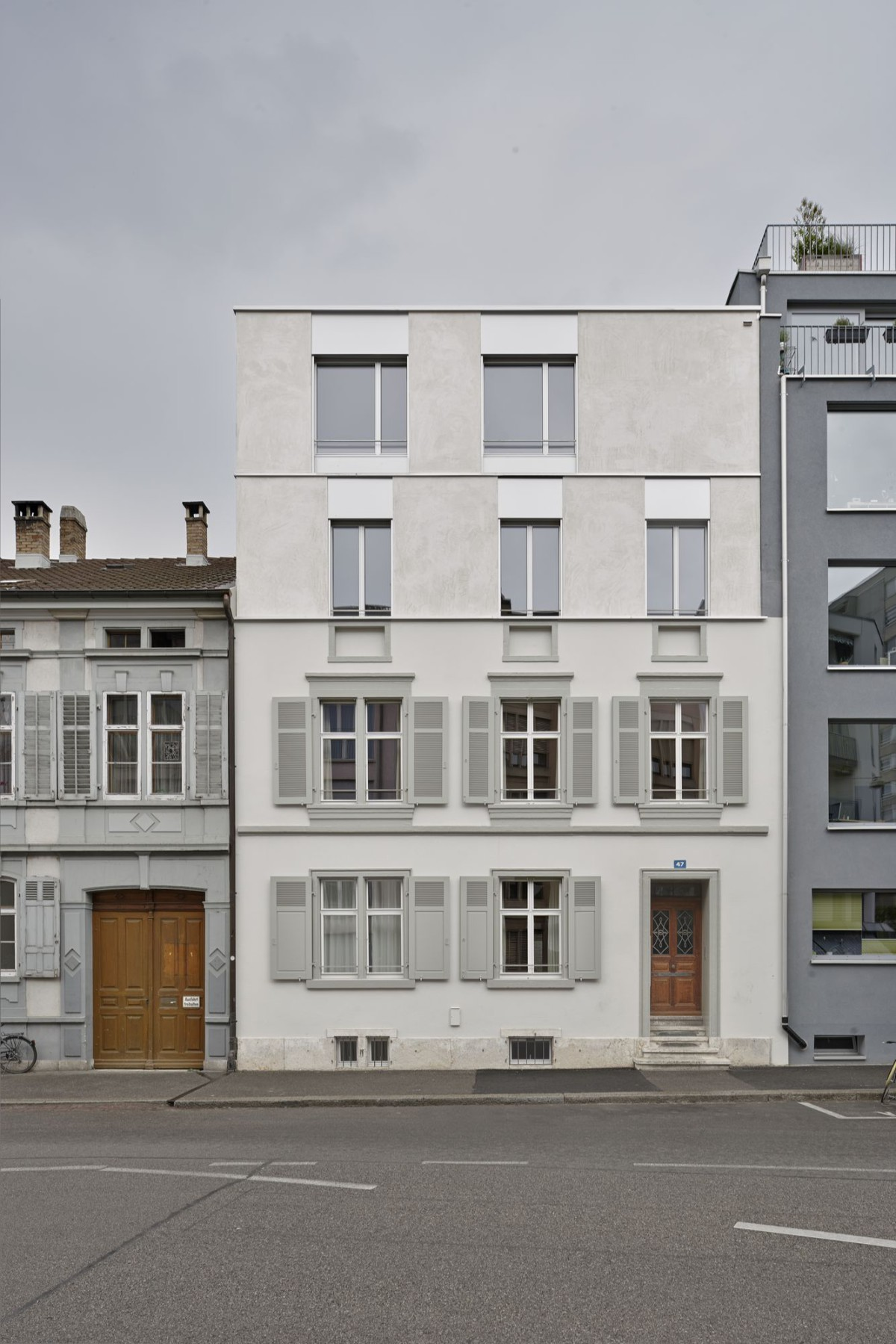 sabarchitekten . Renovation and extension of a townhouse . Basel  (1)