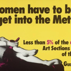 Do Women Have To Be Naked To Get Into the Met. Museum? 1989