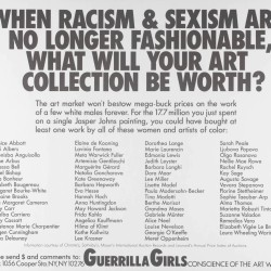 When Racism And Sexism Are No Longer Fashionable, How Much Will Your Art Collection Be Worth? 1989
