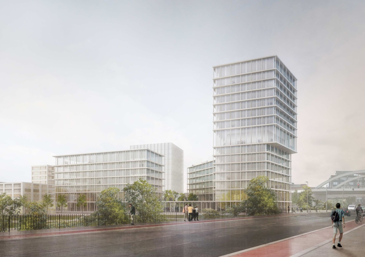 Harry Gugger .High-rise at Nordhafen . Berlin (1)
