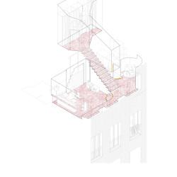 unparelld'arquitectes . Tres ventanas y una escalera. Olot afasia (9)