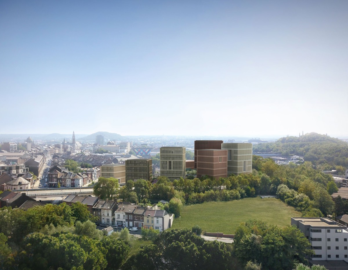 LAN .  public housing and offices . Charleroi afasia (1)