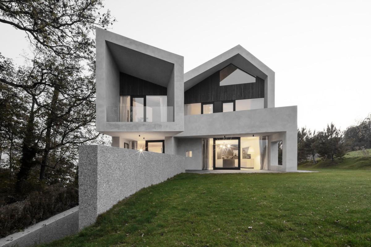 bergmeisterwolf architekten . Pleated B Villa . Aldrans afasia (11)