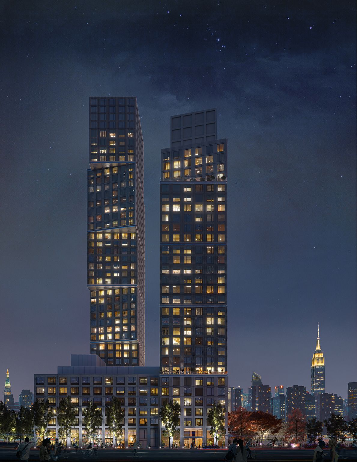 OMA . Two Towers at Greenpoint Landing . New York afasia (1)