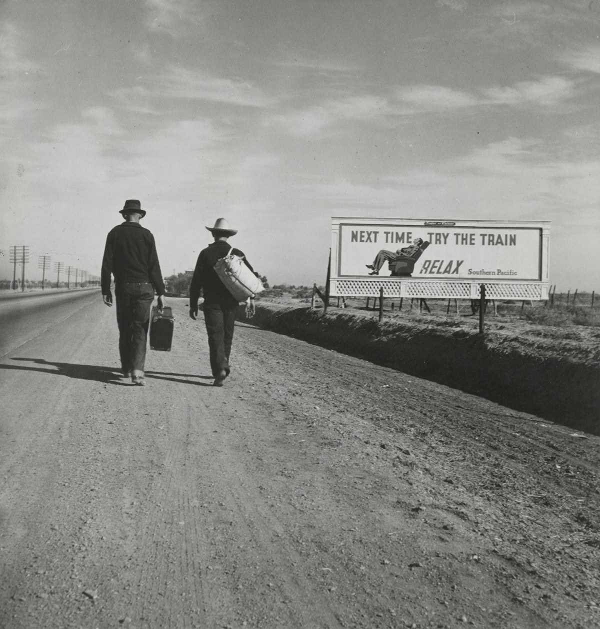 On the Road to Los Angeles, California .1937