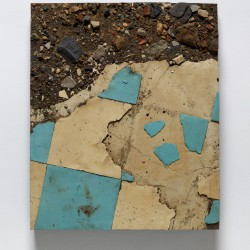 Study from the Japan Series with Broken Blue and White Linoleum and Debris, Miyazaki Prefecture . 1990